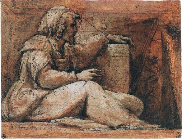 Correggio - Prophet nach rechts gewandt