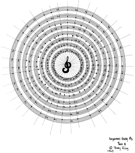 Terry Riley 'Keyboard Study #2', 1967