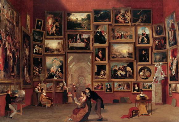 Samuel Finley Breese Morse 'Gallery of the Louvre', 1831-33