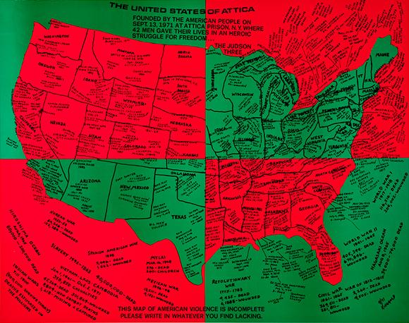 Faith Ringgold, The United States of Attica, 1971