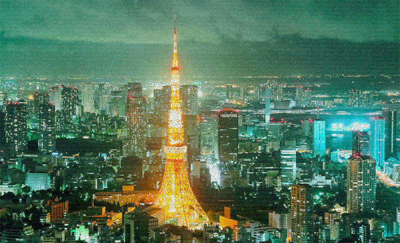 Tokyo Tower, Shining at Night by Totoro Times, 2011