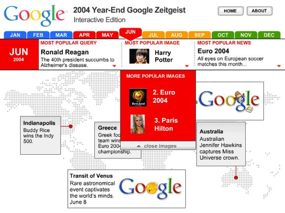 Google Zeitgeist 2004
